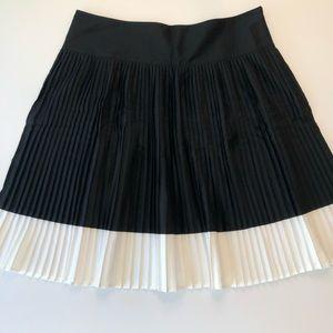 Ralph Lauren Black & White Pleated Skirt